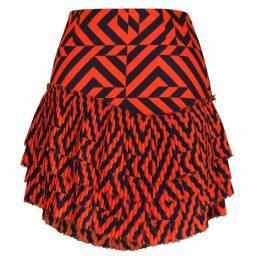 S I O B H A N M O L L O Y - Gracie Tiered Pleated Mini Skirt