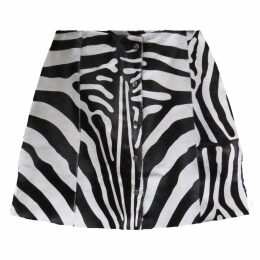 VEIL LONDON - Zebra Print Calf Hair Skirt