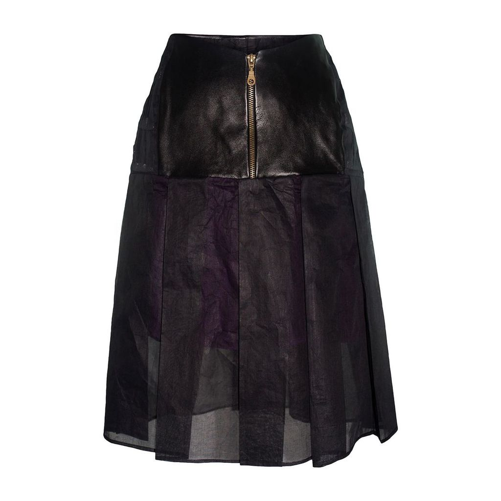 Claire Andrew - Black Pleat Organdie Skirt