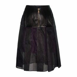 Claire Andrew - Black Pleat Organdie Skirt