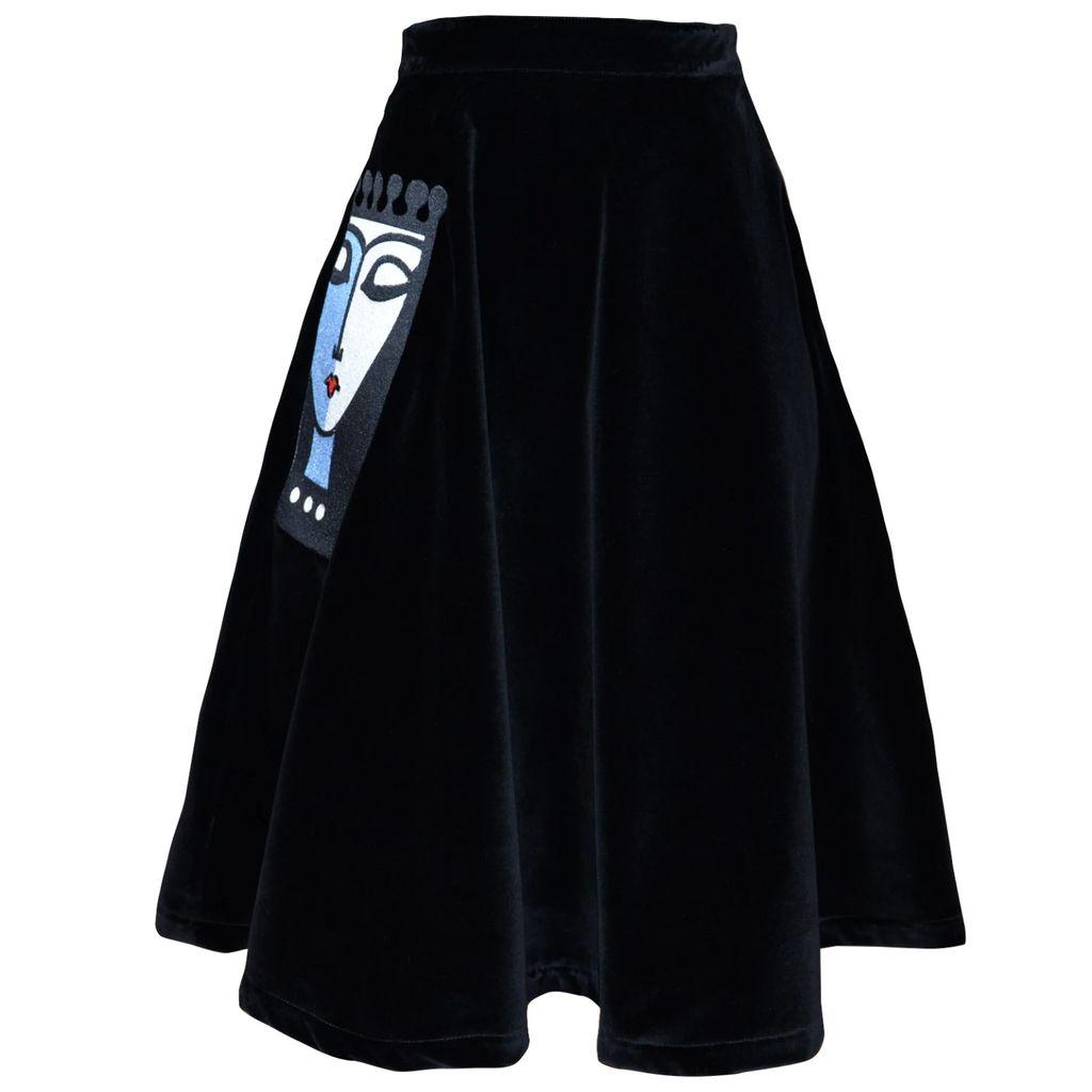 Siobhan Molloy - Gracie Star Print Midi Skirt