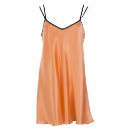 Roses Are Red - Sani Silk Dress In Coral
