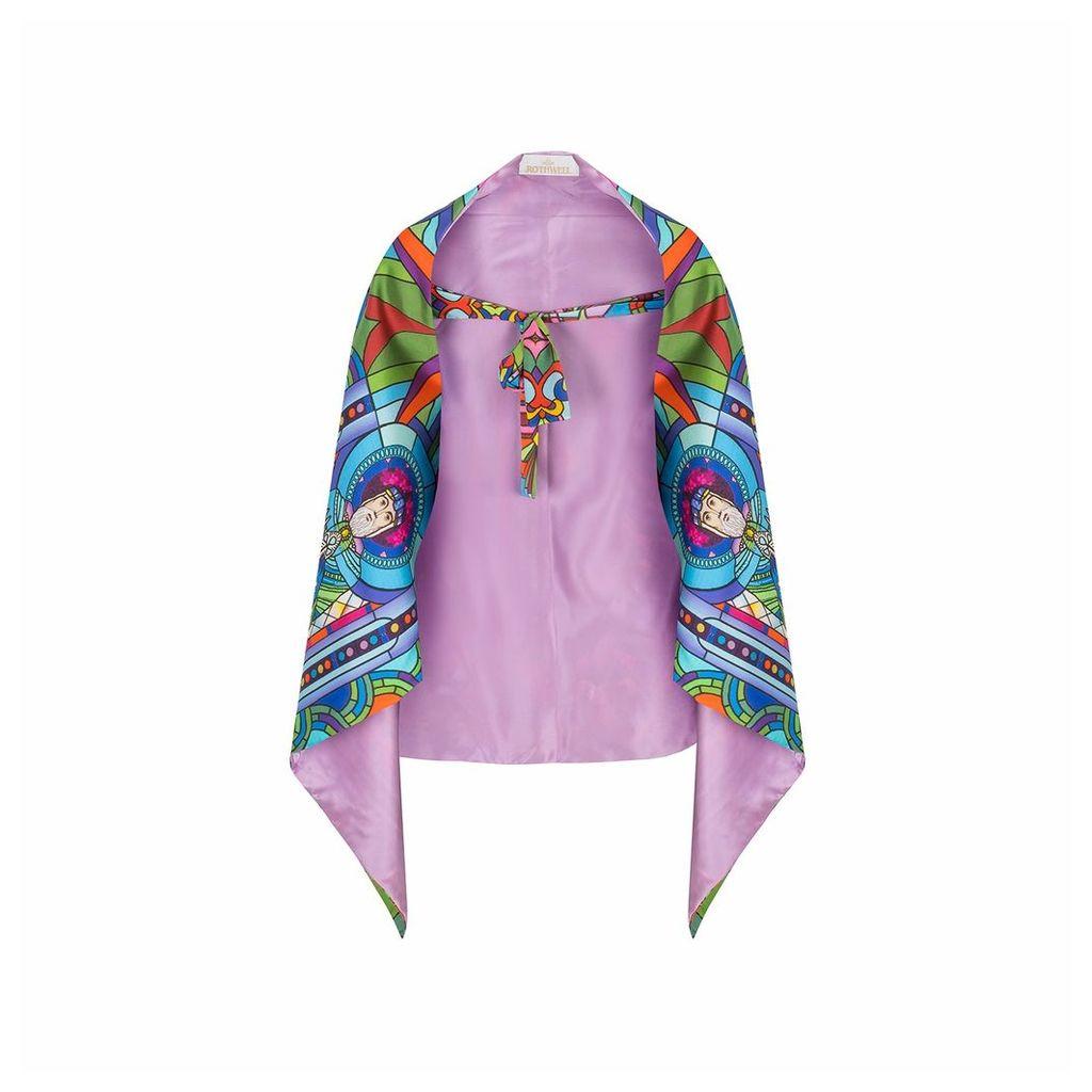 Jennifer Rothwell - St Patrick's Print Reversible Lilac Wrap