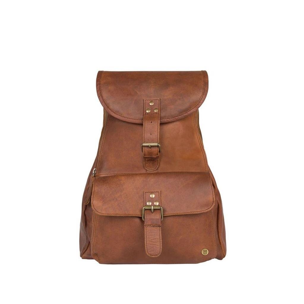 MAHI Leather - Leather Explorer Backpack/Rucksack Womens In Vintage Brown