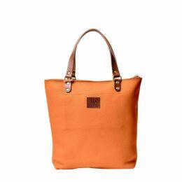 N'Damus London - Abbey Orange Large Leather Tote Bag