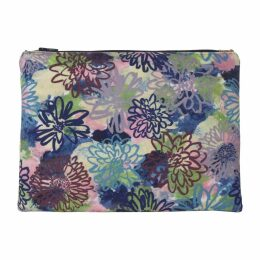Rosa & Clara Designs - Flora Velvet & Leather Pouch