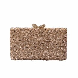 Nissa - Metallic Clutch with Golden Details