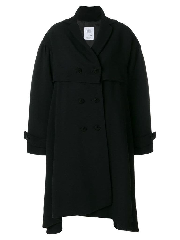 Boule De Neige double breasted asymmetric coat - Black
