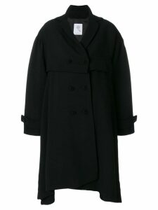 Boule De Neige double breasted asymmetric coat - Black