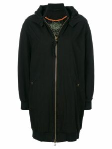 Mr & Mrs Italy detachable hood oversized coat - Black