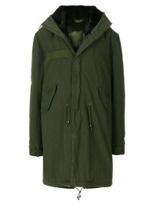 Mr & Mrs Italy fur lined midi parka - Green