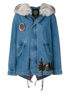 Mr & Mrs Italy denim short parka coat - Blue