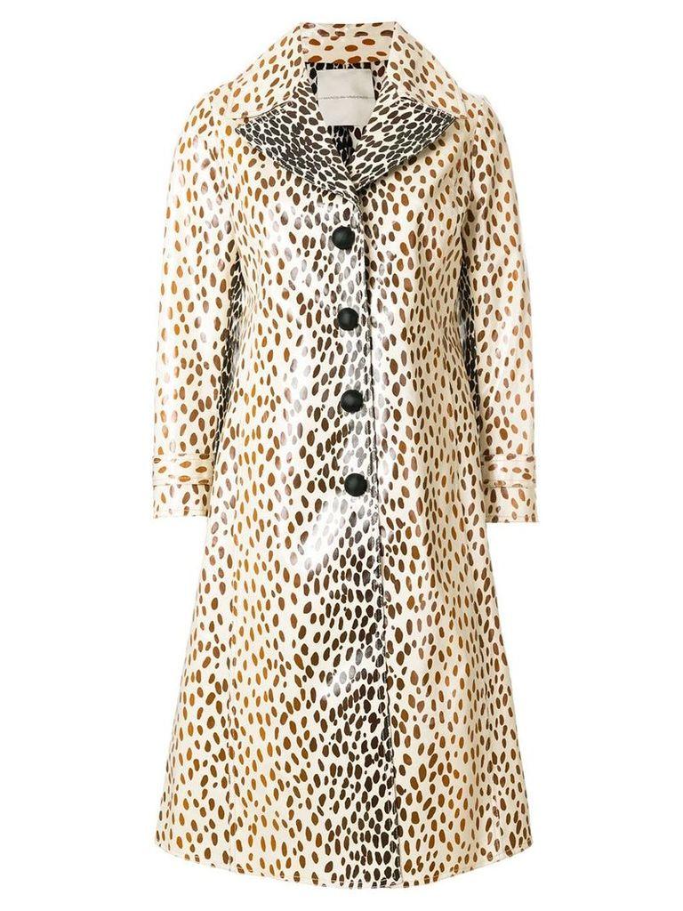 Marco De Vincenzo coated printed coat - Neutrals