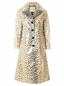 Marco De Vincenzo coated printed coat - NEUTRALS