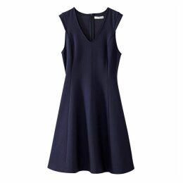 V-Neck Printed Skater Dress