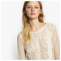 Lace and Mesh Blouse