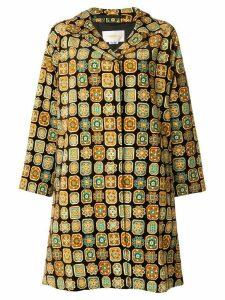 La Doublej Vevet Loden Piastrelle coat - Brown