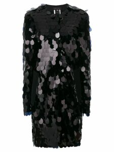 Talbot Runhof sequinned coat - Black