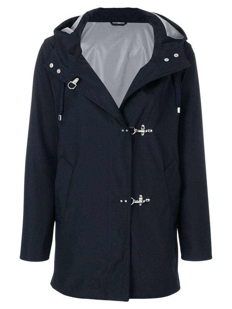 Fay hooded coat - Blue