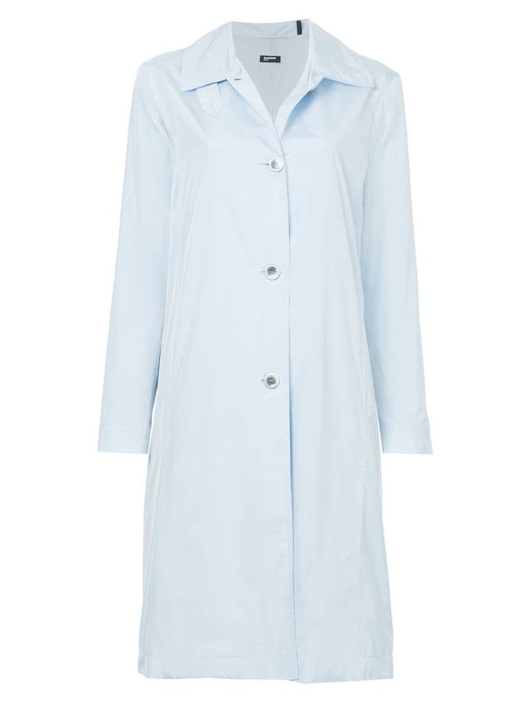 Jil Sander Navy single-breasted coat - Blue