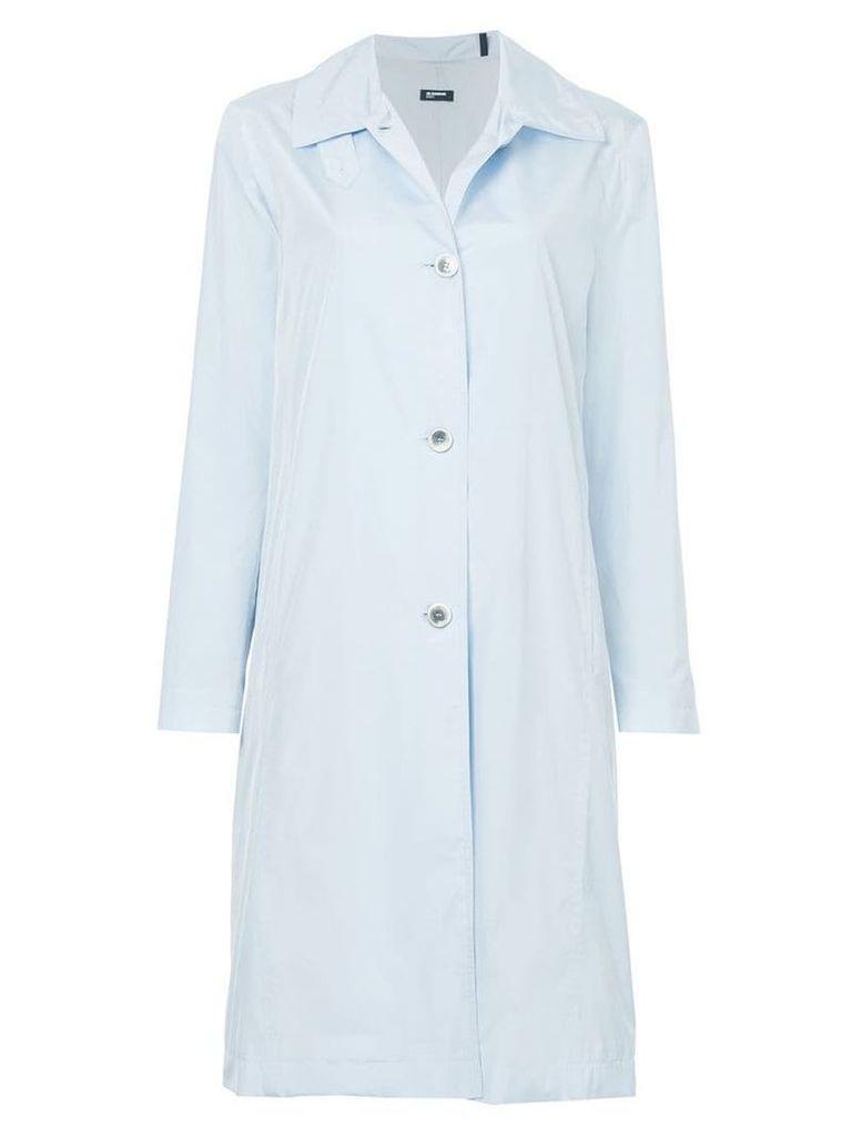 Jil Sander Navy single-breasted coat - Blue
