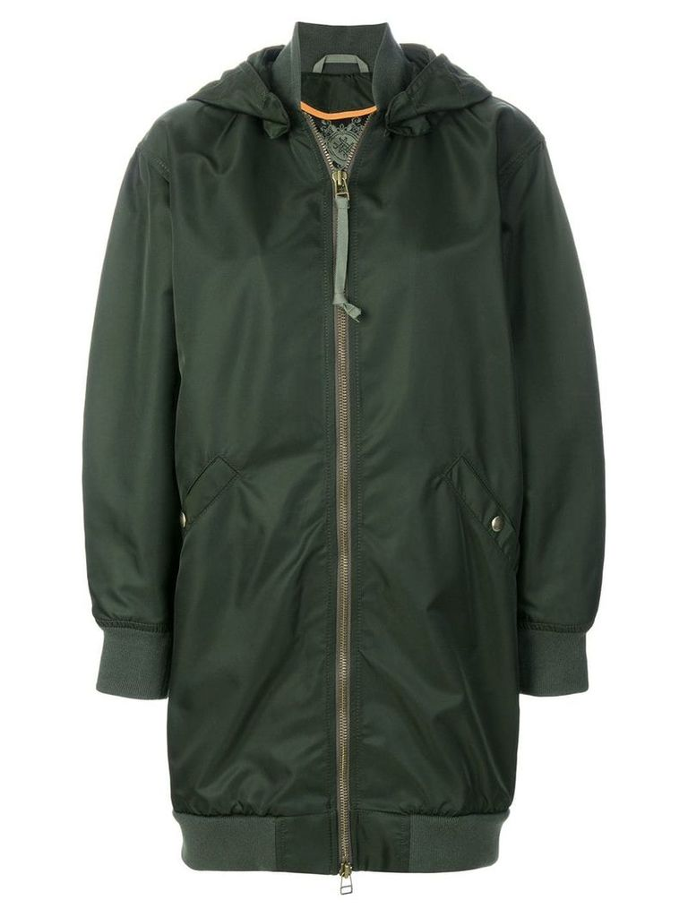 Mr & Mrs Italy detachable hood midi coat - Green