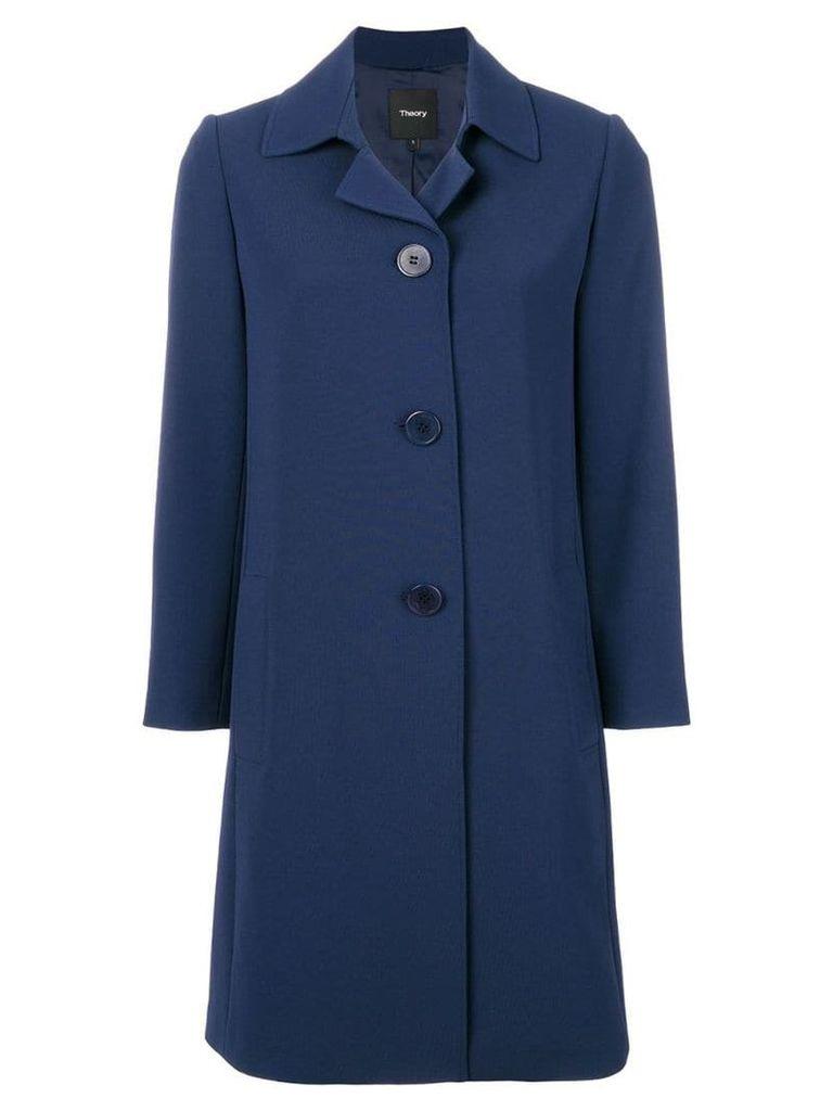 Theory single breasted coat - Blue