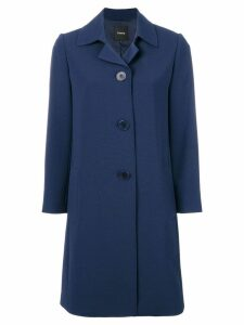 Theory single breasted coat - Blue