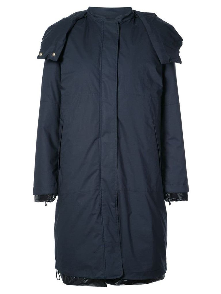 Jil Sander hooded raincoat - Blue