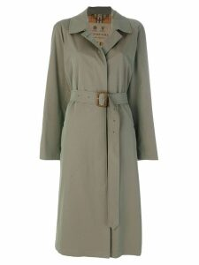 Burberry Brighton Extra-long Car Coat - Green