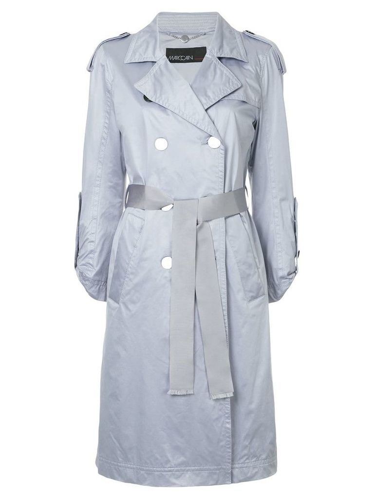 Marc Cain belted trench coat - Purple