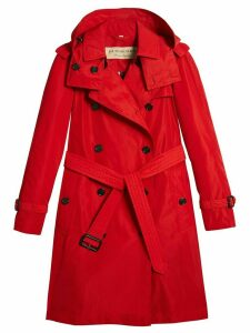 Burberry detachable hood tafetta trench coat - Red