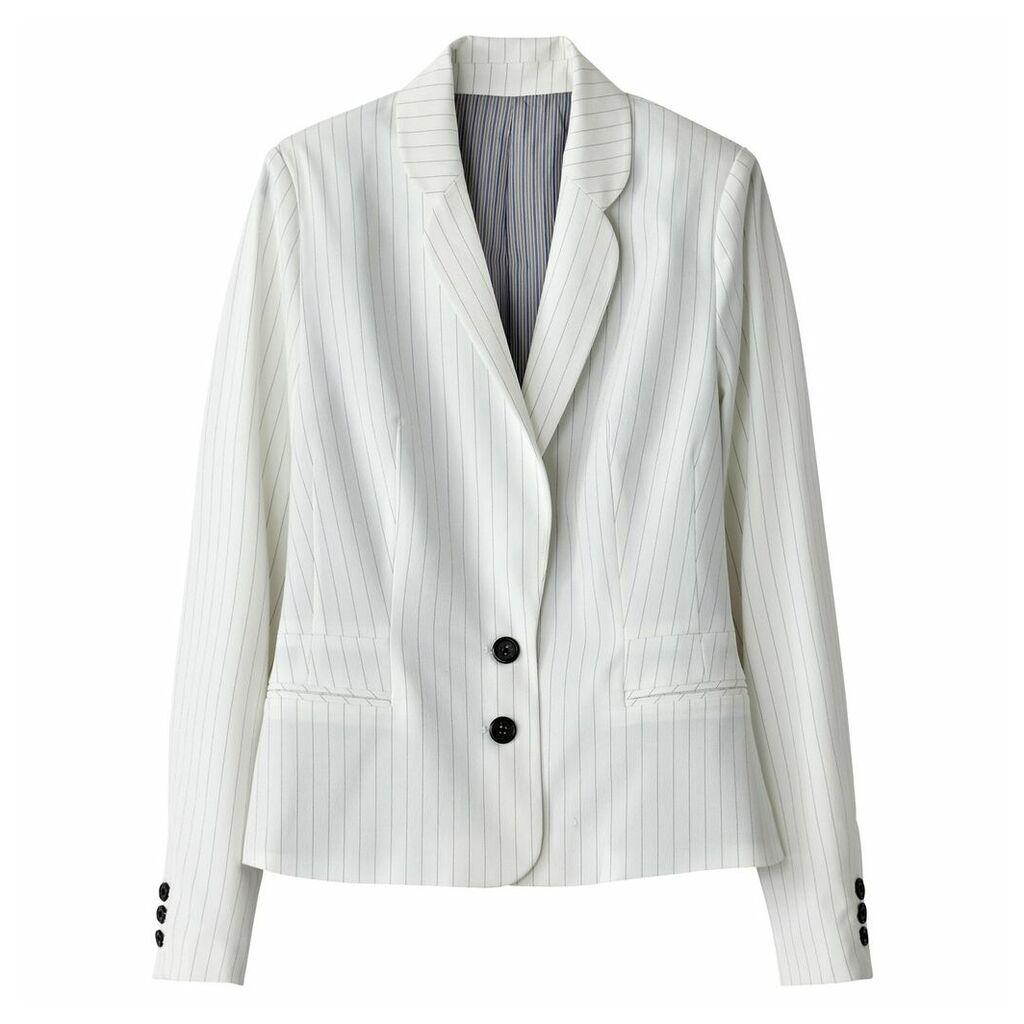Striped Short Blazer