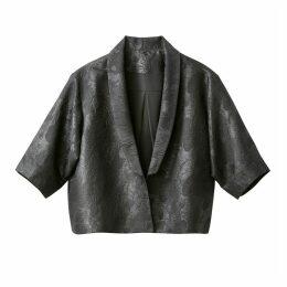 Jacquard Kimono Style Cropped Jacket
