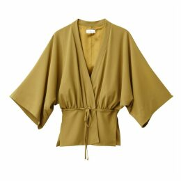Lightweight Belted Kimono-Style Jacket with 3/4-Length Sleeves