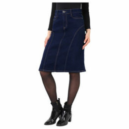 Krisp  Panelled Regular A-Line Denim Skirt [Navy ]  women's Skirt in Blue