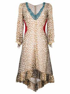 Marco De Vincenzo leopard print dress - Multicolour
