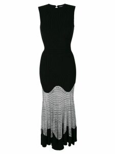 Alexander McQueen mesh knit dress - Black