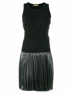 Versace Jeans pleated dress - Black