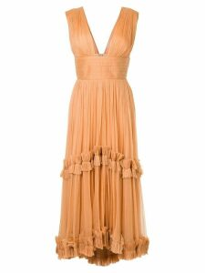Maria Lucia Hohan pleated ruffle trim dress - Yellow