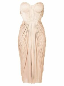 Maria Lucia Hohan gathered pleated design dress - Pink