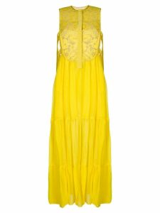 Miahatami floral lace maxi dress - Yellow