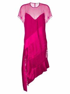 Givenchy layered asymmetric midi dress - Pink