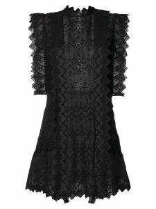 Isabel Marant frill trim dress - Black