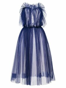Natasha Zinko point d'esprit strapless maxi dress - Blue