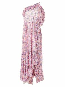 Philosophy Di Lorenzo Serafini printed one shoulder dress - Pink