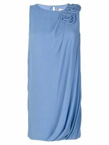 Lanvin rosette-embellished dress - Blue