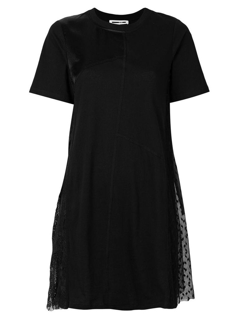 McQ Alexander McQueen asymmetric T-shirt dress - Black