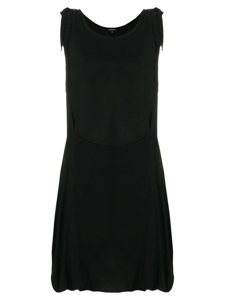 Ann Demeulemeester asymmetric draped dress - Black