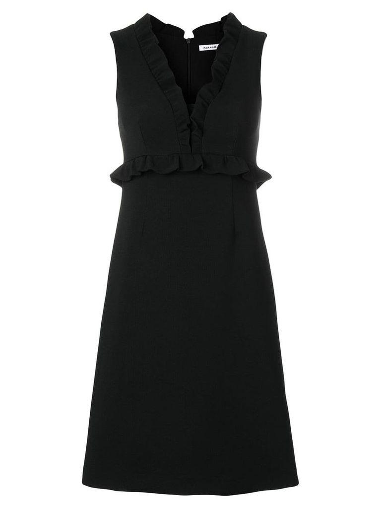 P.A.R.O.S.H. ruffle trim crepe dress - Black
